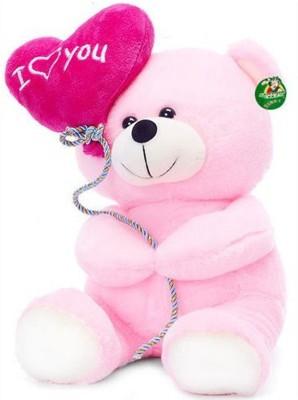 Lovely Teddy with heart Balloon   30 cm Multicolor Lovely Soft Toys