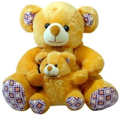 Sana Browne Teddy With Cute Baby cm 45   45 Brown Sana Soft Toys