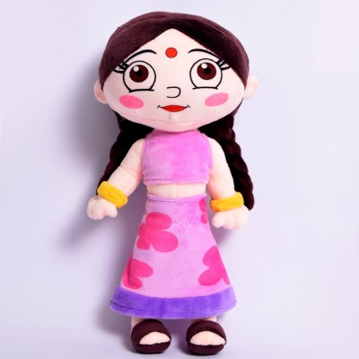 Chhota Bheem Chutki Plush Toy  - 33 cm(Purple, Yellow)