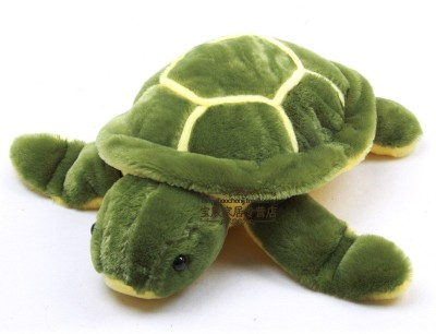 Tickles Turtle   30 cm Green Tickles Soft Toys