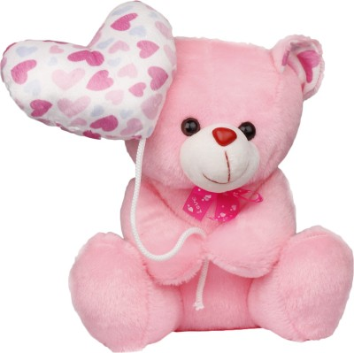 Lata Valentine Teddy With Baloon Heart   30 cm Pink Lata Soft Toys