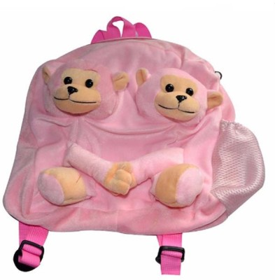 Pari Soft Monkey School Bag School Bag Pink, 16 inch Pari School Bags