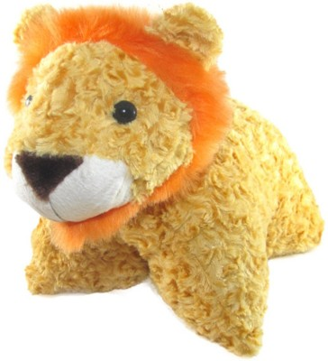 Tickles Tiger Convertible Cushion Cum Toy   35 cm Yellow Tickles Soft Toys