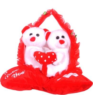 Ktkashish Toys kashish new year Or valetine spcial,, red and white teddy bear ..   5 inch red Ktkashish Toys Soft Toys