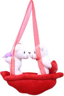 GalliBazaar Hanging Pair Teddy   12 inch White, Red GalliBazaar Soft Toys