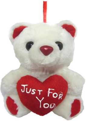 Tickles Tiny Cute Teddy with Heart Just For You   13 cm White Tickles Soft Toys