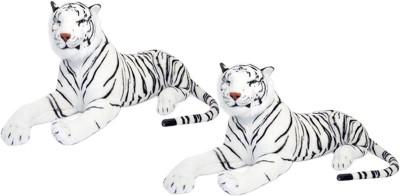 Alexus Two White Tiger   32 cm Multicolor Alexus Soft Toys