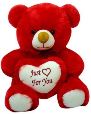 Sana Redish Teddy Sitting With Heart cm 28   28 cm Red Sana Soft Toys
