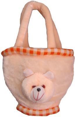 Y & J Peach Soft Plush Bag  - 20 cm(Beige)  available at flipkart for Rs.233