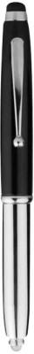 Apex Metal Pen With Stylus & Torch Black Stylus(Black)