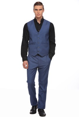 Luxurazi Single Breasted Solid Men's Suit