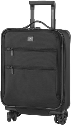 Victorinox 20 Inch Dual-Caster Expandable  Cabin Luggage - 20 inch(Black) at flipkart