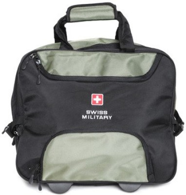 Swiss Military POLYESTER OVERNIGHTER LAPTOP TROLLEY BAG  LTB1 Cabin Luggage   14 inch Swiss Military Suitcases