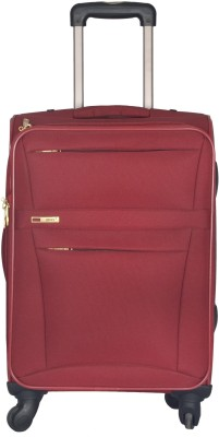 Genex Emerald Check in Luggage   24 inch Maroon