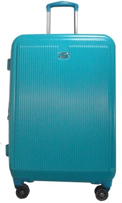 TRAWORLD 24 inch 4 wheel Expandable Check in Luggage   24 inch Blue