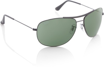 Ray-Ban Oval Sunglasses(Green)
