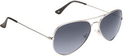 Vincent Chase Vincent Chase Top Guns VC 5158/P Silver Blue Gradient C15 Aviator Sunglasses Aviator Sunglasses(Blue)