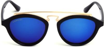 Chemistry CH004 C01 Oval Sunglasses(Blue) at flipkart