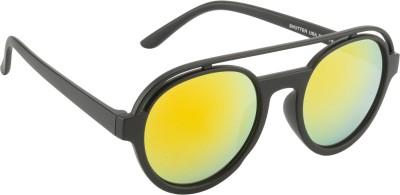 Glitters Round Sunglasses(Orange) at flipkart