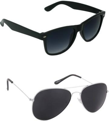 Amour-Propre Aviator, Wayfarer Sunglasses(Black)