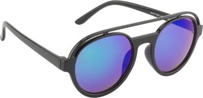 Glitters Round Sunglasses(Green) at flipkart