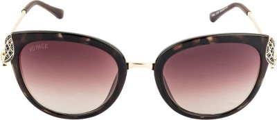 VOYAGE Cat-eye Sunglasses(Brown)