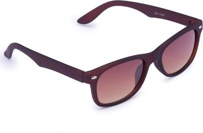 Gansta Wayfarer Sunglasses(Brown) at flipkart