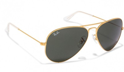f311dcc4a5 Ray-Ban Aviator Sunglasses(Green) from flipkart in Sunglasses