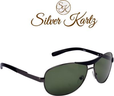 Silver Kartz Wayfarer Sunglasses(Green)
