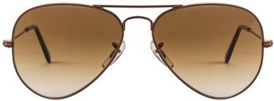 Zaira Diamond Aviator Sunglasses(Brown) at flipkart