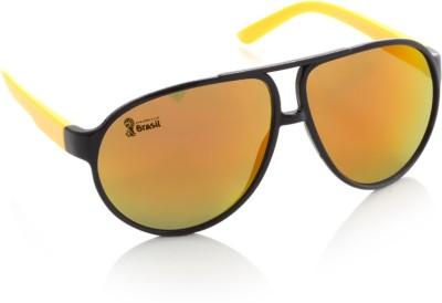 FIFA Aviator Sunglasses(Orange, Yellow) at flipkart
