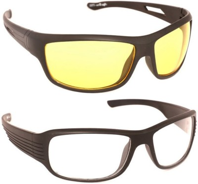 Night Drive Night And Day Vision With Case Sports Sunglasses(For Boys) at flipkart