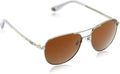 Bally Oval Sunglasses(Brown) at flipkart