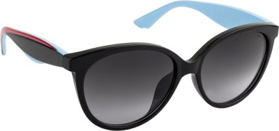 Farenheit Oval Sunglasses(Grey) at flipkart