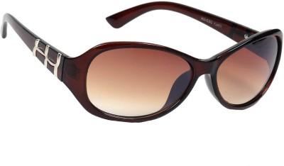 Eyeland Oval Sunglasses(Brown) at flipkart