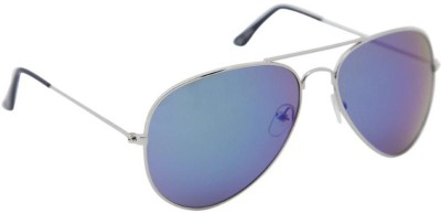 Gansta Aviator Sunglasses(Green) at flipkart