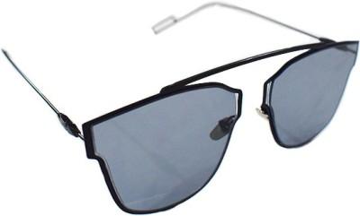 Zaira Diamond Cat-eye Sunglasses(Black)