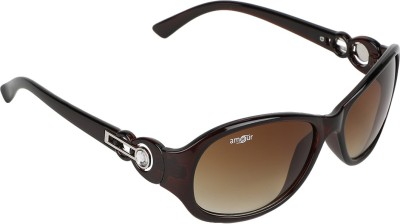 Amour Oval Sunglasses(Brown) at flipkart