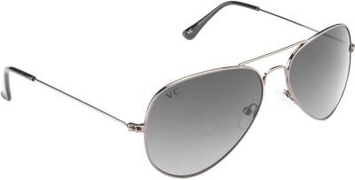 Vincent Chase VC 5158 Gunmetal Grey Gradient DO12/VO Aviator Sunglasses Aviator Sunglasses(Grey)