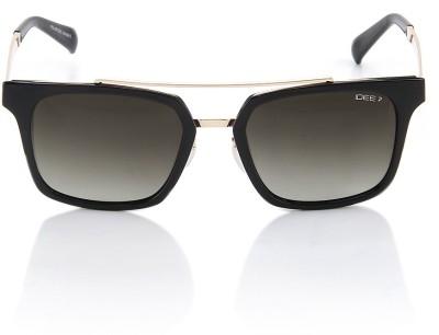 IDEE Retro Square Sunglasses(Green)