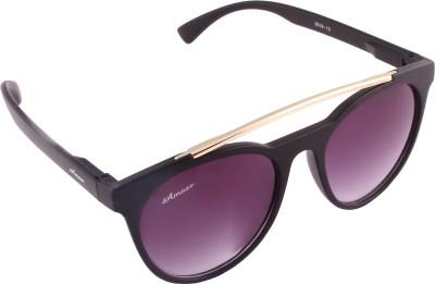 Amaze Round Sunglasses(Black) at flipkart