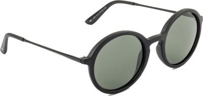 Farenheit Round Sunglasses(Green) at flipkart