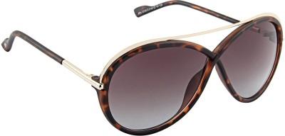 Farenheit Oval Sunglasses(Brown) at flipkart