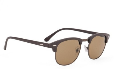 Poloport Wayfarer Sunglasses(Brown, Grey)