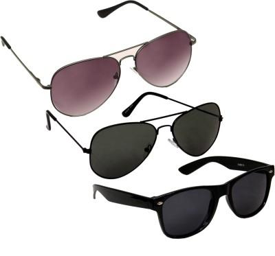 Verre Aviator Wayfarer Aviator Sunglasses(For Boys)