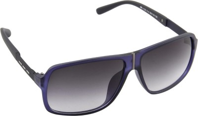 Farenheit 1123-C4 Rectangular Sunglasses(Grey) at flipkart