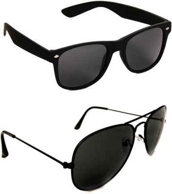 Daller Wayfarer, Aviator Sunglasses(Black)