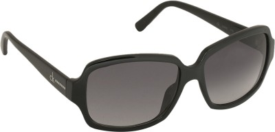 Calvin Klein Over-sized Sunglasses(Grey) at flipkart