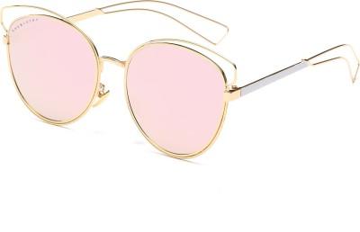 Chemistry CM1787C2 Round Sunglasses(Pink) at flipkart