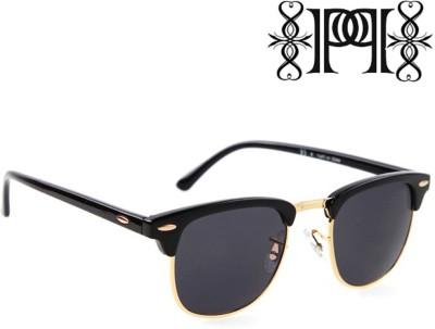 Poloport Wayfarer Sunglasses(Black, Grey)